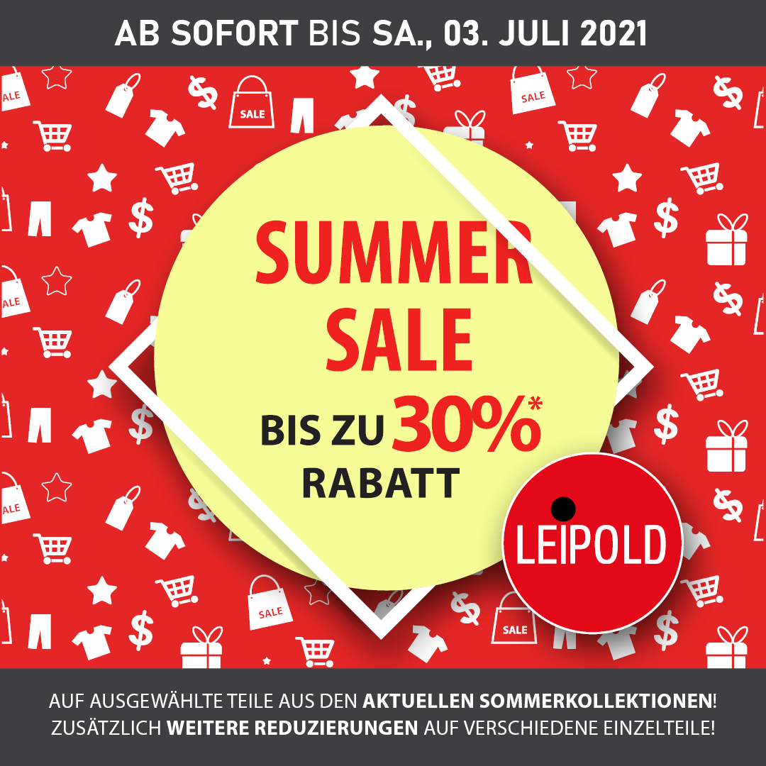 Summer Sale - bis zu 30% Rabatt!