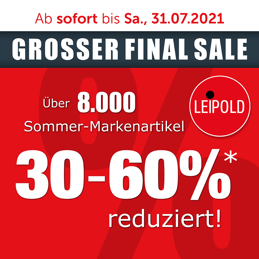 Großer Final Sale - Modehaus Leipold