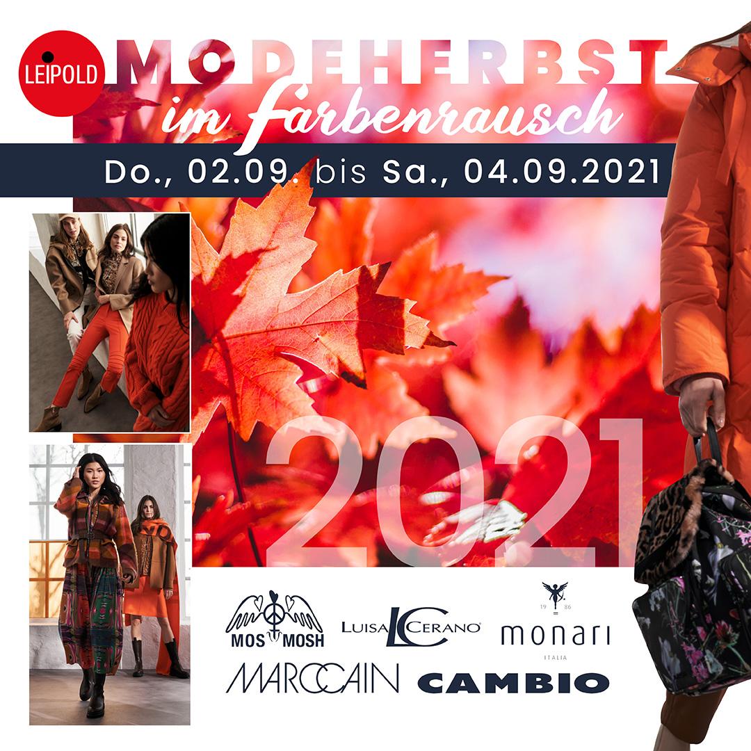 Modeherbst im Farbenrausch - Saisoneroeffnung Modehaus Leipold - Herbst 2021