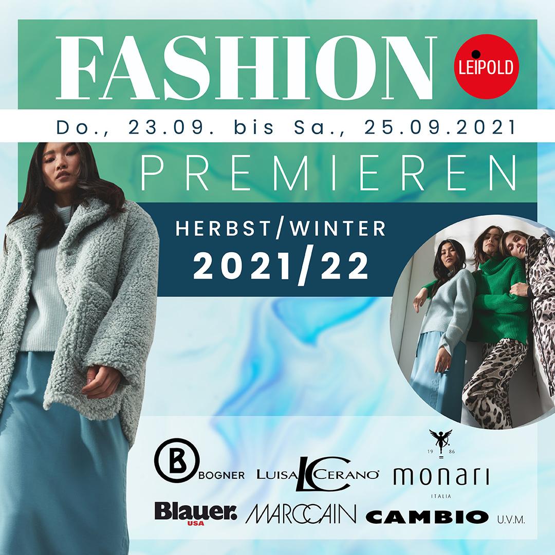 Modehaus Leipold - Fashion Premieren Herbst Winter 2021 2022
